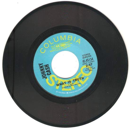 Cash,johnny - What Is Truth / S/t (mono) - 45