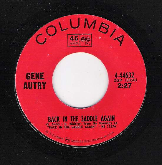 Gene Autry - Back In The Saddle Again / Home On The Range