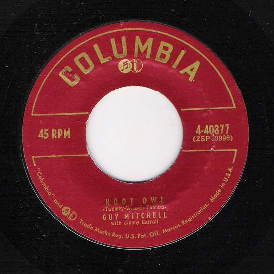 Guy Mitchell - Hoot Owl / Rock A Billy - 45