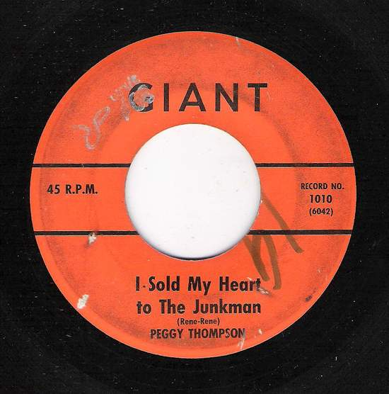 Peggy Thompson/ The Merits - I Sold My Heart To The Junkman / Moon River - 45