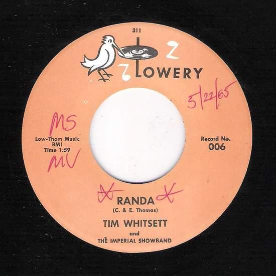 Tim Whitsett - Randa / City Girl - 45