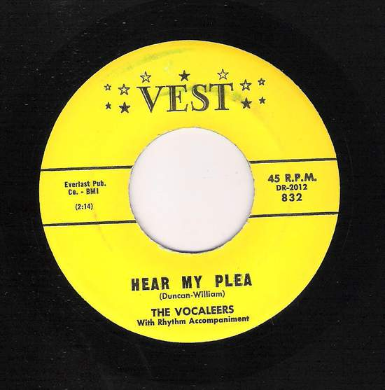Vocaleers - The Night Is Quiet / Hear My Plea - 45