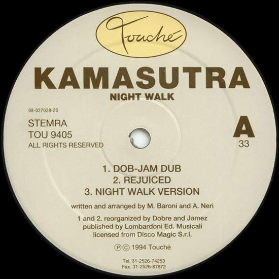 Kamasutra - Night Walk - 12""