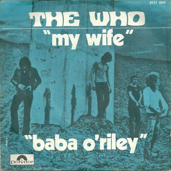 """Who - My Wife - 7"""" PS"""