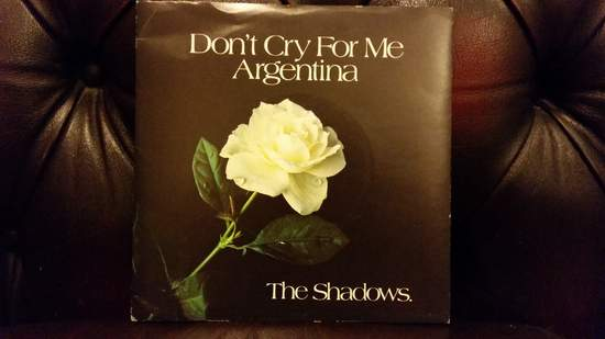 """Shadows - Don't Cry For Me Argentina - 7""""PS"""