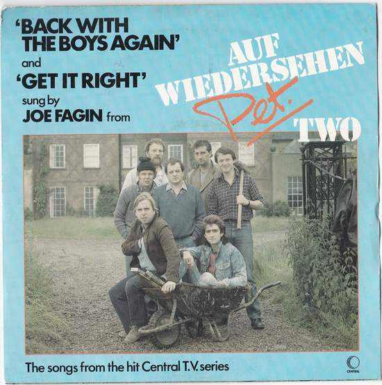 """Joe Fagin - Back With The Boys Again - 7"""" PS"""