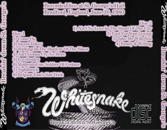 Whitesnake - Breaking Down St. George's - CD