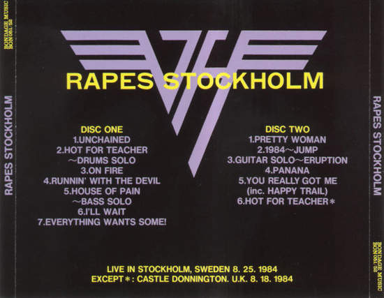 Van Halen - Rapes Stockholm - CD