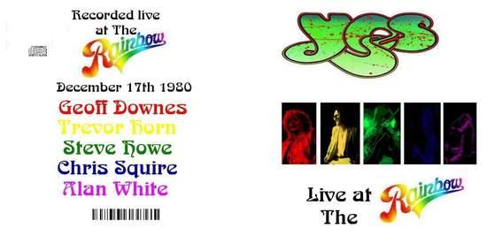 Yes - London Rainbow Theatre 1980 - CD