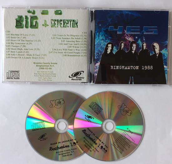 Yes - Binghamton 1988 - CD
