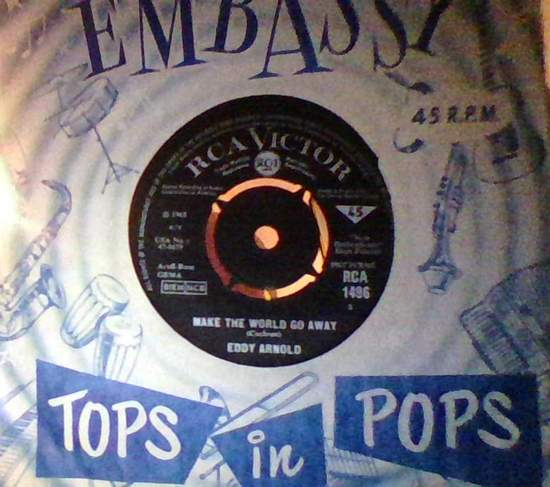 Eddy Arnold - Make The World Go Away/the Easy Way - 45