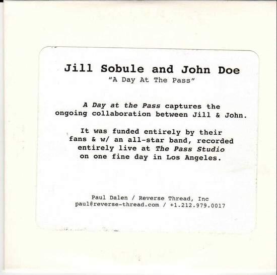 Jill Sobule & John Doe - A Day At The Past - CD