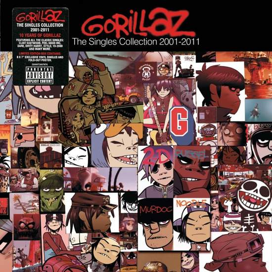 "Gorillaz - The Singles Collection 2001-2011 - 7"" Box Set"
