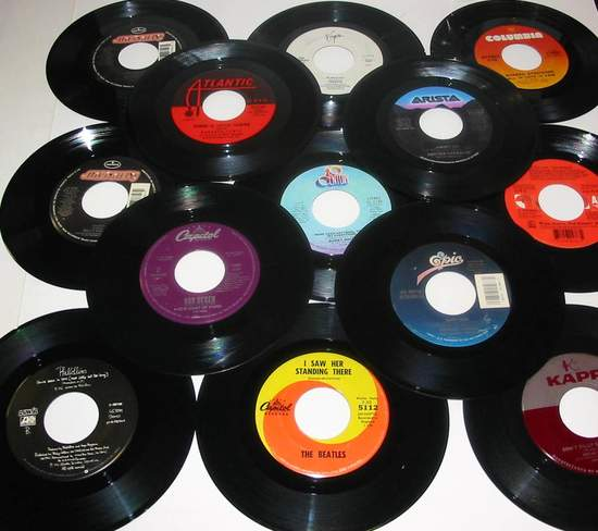 Various - 100 Like New 45 Rpm Vinyl Records Many With Jukebox Strips All With Sleeves - 45