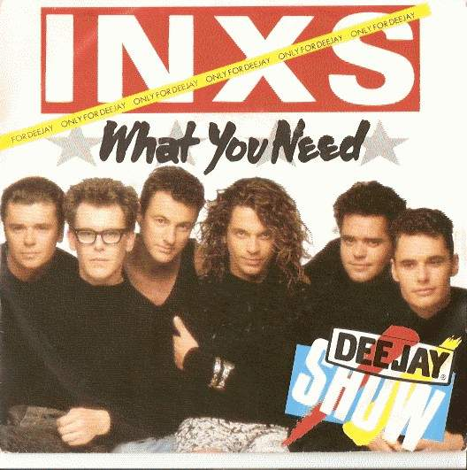 """Inxs - What You Need (promo) - 7"""" PS"""