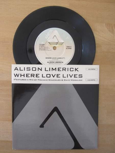 "Alison Limerick - Where Love Lives - 7"" PS"
