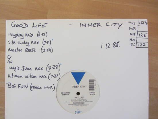 "Inner City - Good Life / Big Fun (remix) - 12"""