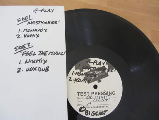 """4-play - Nastyness / Feel The Music (12"""" Test Pressing) - 12"""" Test Pressing"""