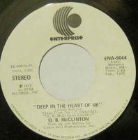 "Obie Mcclinton - Deep In The Heart Of Me (promo) - 7"" White Label"