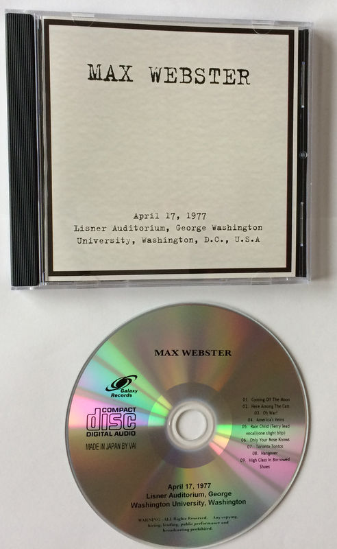 Max Webster - Washington 1977 - CD