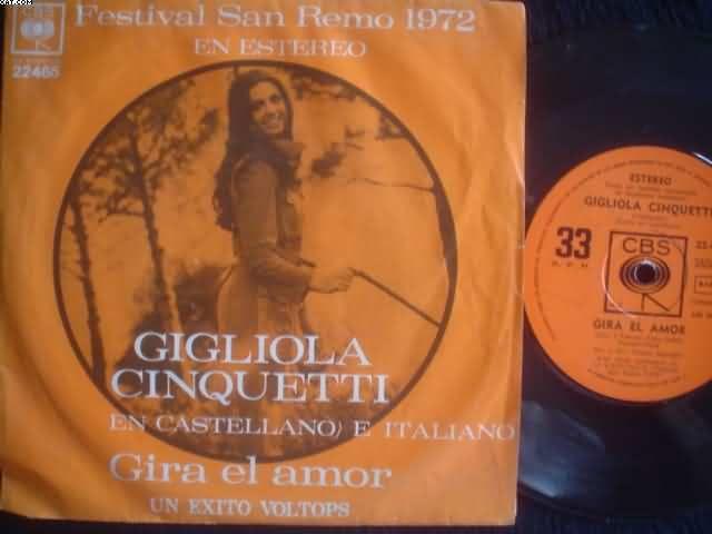 Gigliola Cinquetti Gira El Amor Records Lps Vinyl And