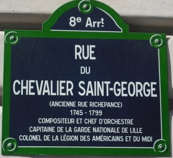 Joseph Boulogne, Chavalier de Saint Georges: plaque chevalier