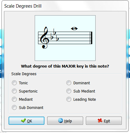 Music Theory Teaching Tools: Musition Scale Degrees