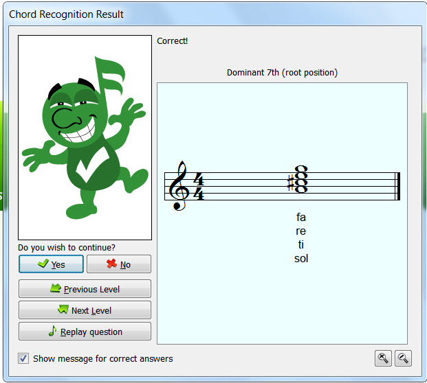 Music Theory Teaching Tools: Auralia Chord Recognition