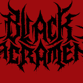 Black sacrament logo red