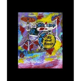 20043 drum set art print