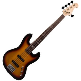 Aaaaaredwood rj5 5 string bass guitar sunburst