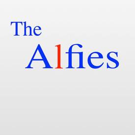 The alfies logo