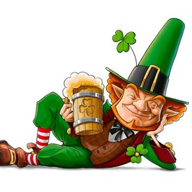 Elf leprechaun with irish beer 600x470