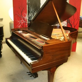 Steinway m grand piano  exotic grain mahogany  1925 just refinished   rebuilt 11 2013  15 500. pic 1