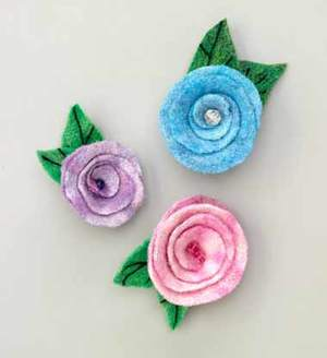 Felted Roses