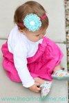 Ruffled Lace Flower Headband