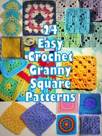 Crocheting Granny Squares For Beginners : 24 Easy Crochet Granny Square Patterns AllFreeCrochetAfghanPatterns ...