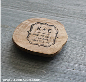 Rustic Save the Date Magnets