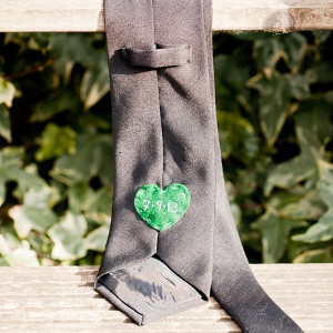Hidden Heart Custom Groomsman Tie