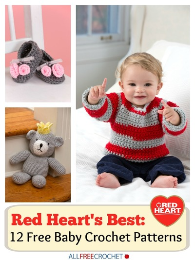 Red Hearts Best 12 Free Baby Crochet Patterns Ebook Stitch And