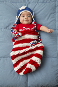 patriotic baby cocoon and hat