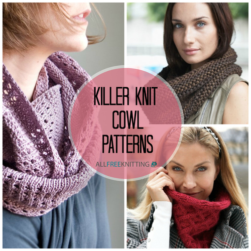 21 Killer Knit Cowl Patterns AllFreeKnitting.com