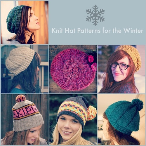 Knitting Patterns For Winter Hats : 66 Knit Hat Patterns for the Winter AllFreeKnitting.com