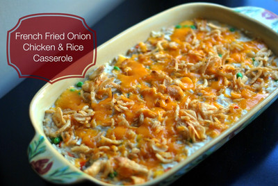 French Fried Onion Chicken and Rice Casserole