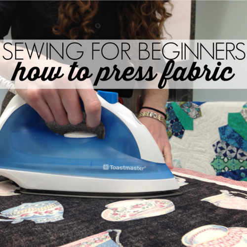 Sewing for Beginners: How to Press Fabric