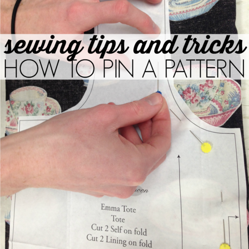 Sewing Tips And Tricks  How To Pin A Pattern