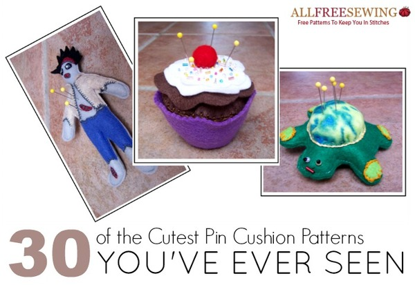 Zombies, Cupcakes, and Turtles Pin Cushions
