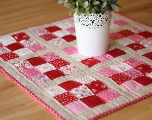 Scrappy Nine Patch Mini Quilt