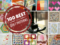 100 Free Quilt Patterns For Your Home: Nine Patch Patterns, Rag Quilt Patterns, Log Cabin Quilt Patterns, Quilt-As-You-Go Patterns, and More