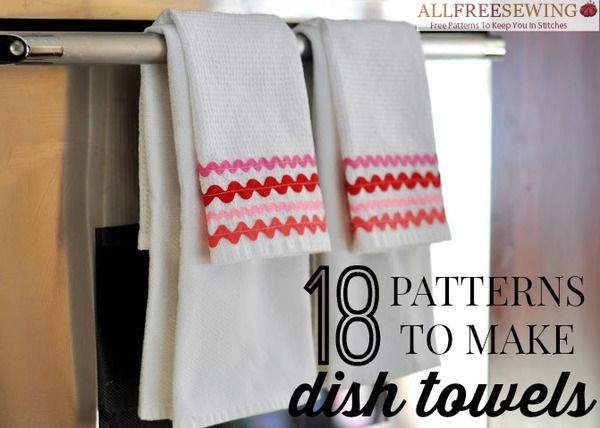 18 Patterns to Make Dish Towels